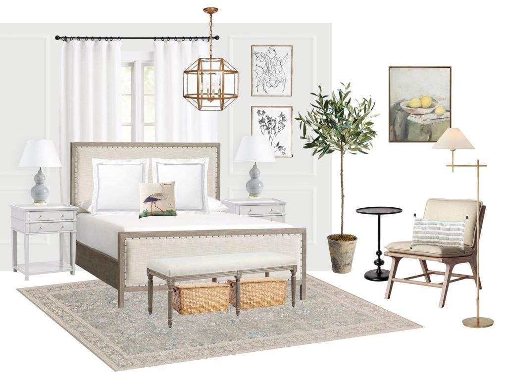 serene bedroom mood board inspiration