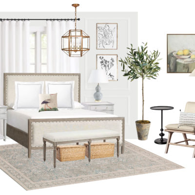 Master Bedroom Space Planning and Mood Board