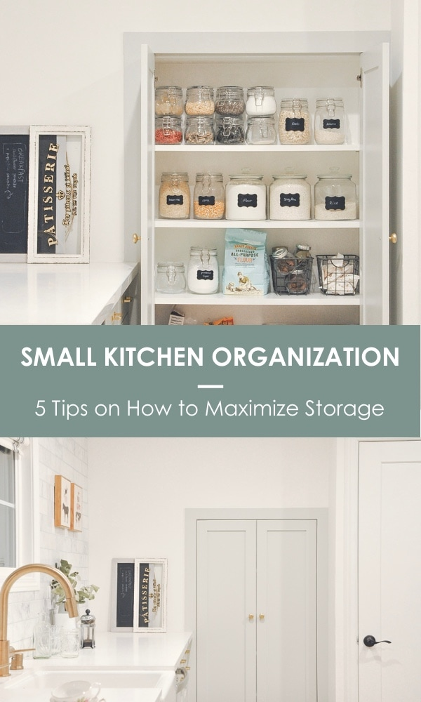 small kitchen organization, 5 tips on how to maximize the storage and keep things organized | kitchen organization tips and tricks #kitchenorganization #smallkitchen
