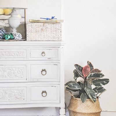 Antique Dresser Makeover  | Adding Faux Entry Way to My Home