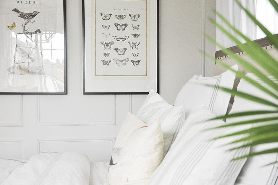 master bedroom tour, serene relaxing, neutral, benjamin moore oc 22 calm