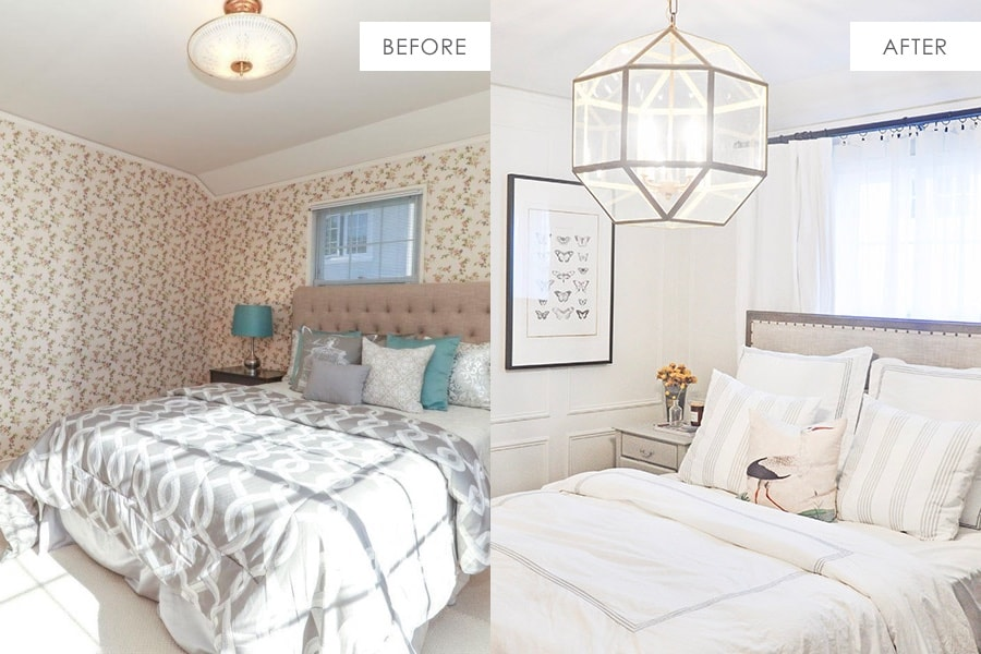 bedroom remodel before and after, dramatic makeover