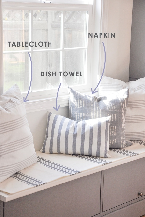 all about diy throw pillows, where to source decor fabric, and how much it costs | creative ways to source pillow fabric materials