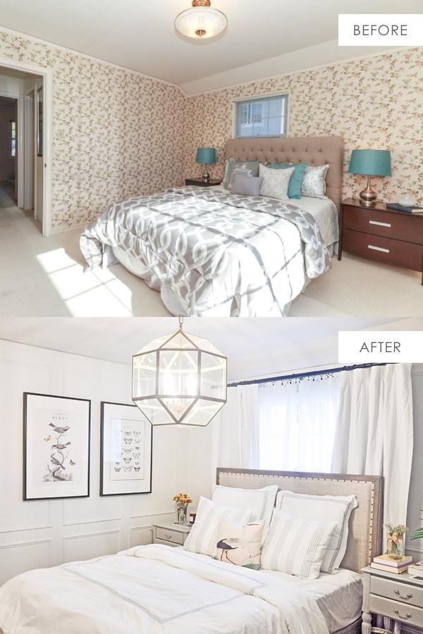 master bedroom makeover, remodel, update | parisian chic, parisian apartment, european inspired #homerenovation #bedroomdecor