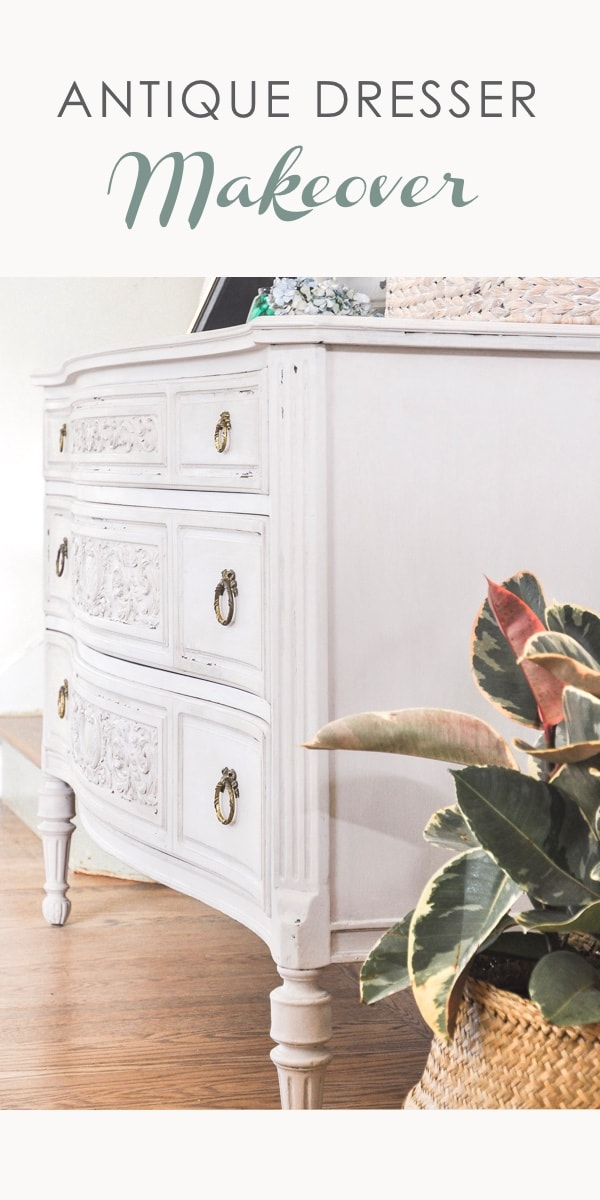antique dresser makeover diy project, anthropologie home style furniture dresser chest | furniture refinishing project with chalk paint, amy howard at home dust of ages, light antique wax. #furniturerefnishing #furnituremakeover #chalkpaintedfurniture