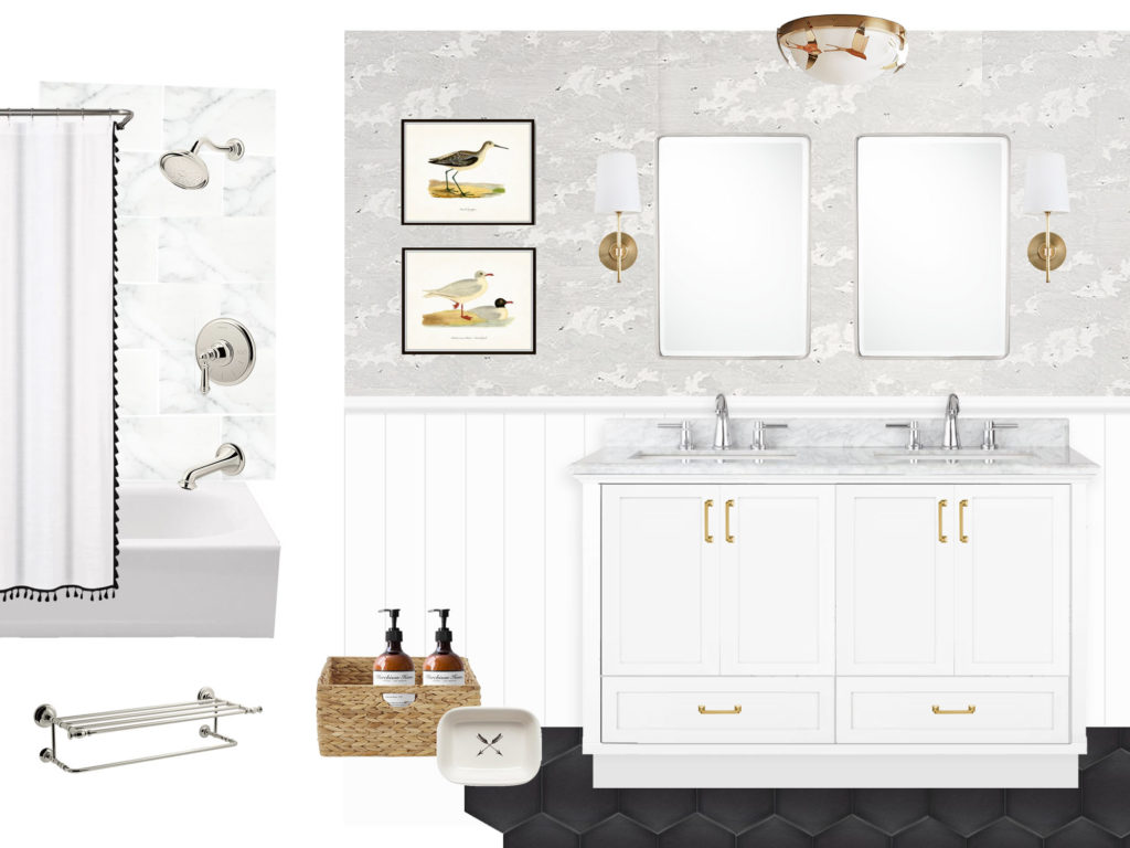 master bathroom remodel inspirations, mood board, moodboard