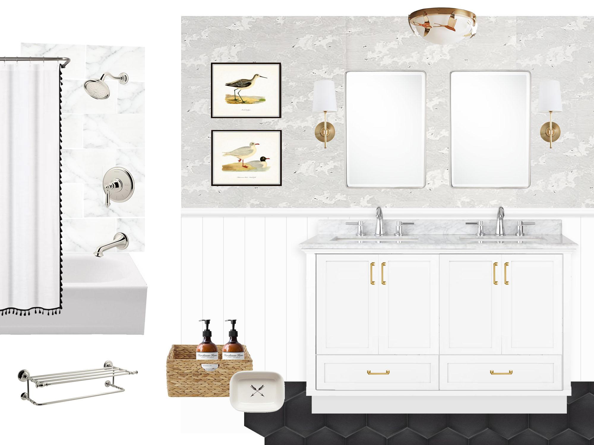 master bathroom remodel inspirations, mood board, moodboard