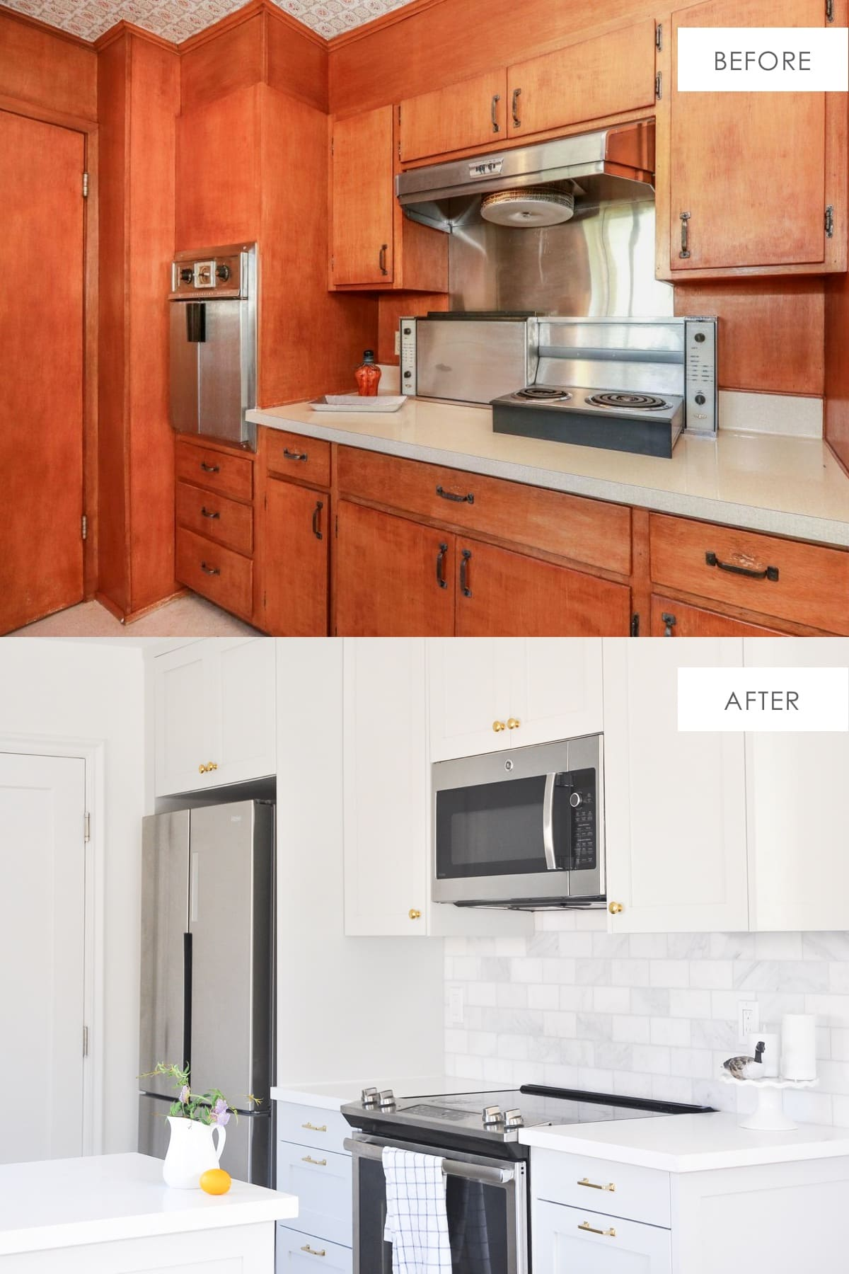 ikea kitchen makeover before and after | ikea sektion kitchen cabinets honest review | kitchen transformation