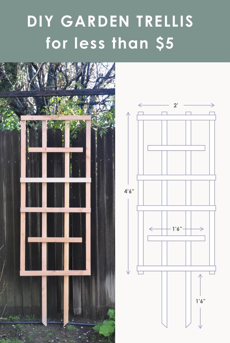 diy garden trellis for less than $5 | garden diy lattice project #gardendiy #diytrellis #diylattice