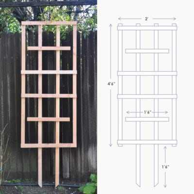diy garden trellis for less than $5 | garden diy lattice project #gardendiy #diytrellis #diylattice