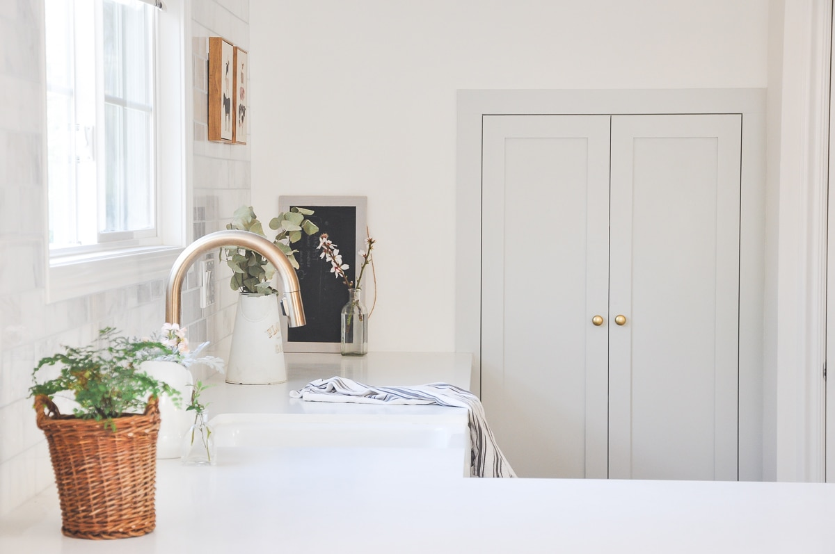 Kitchen Tour Part 1   IKEA Kitchen Cabinets Honest Review After 1 year Usage   ikea sektion kitchen system   small house small kitchen space   modern farmhouse kitchen   benjamin mooregray owl kitchen cabinets