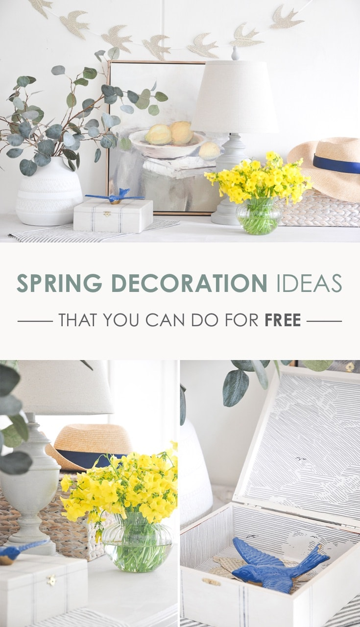 spring decoration ideas that you can do for free | decorate home for spring for free | budget decorating, spring decor #springdecoration #springdecor #budgetdecor