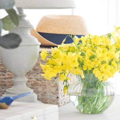 Spring Decoration Ideas for Entryway Console Table | DIY Spring Decor