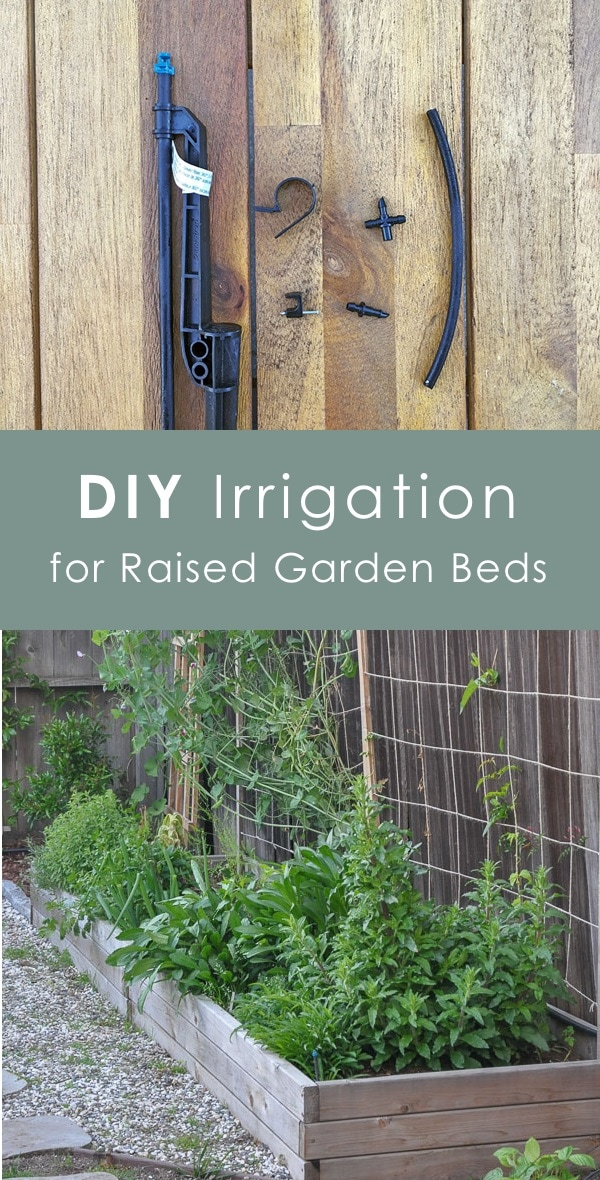 diy irrigation for raised beds, garden drip irrigation system with micro spray