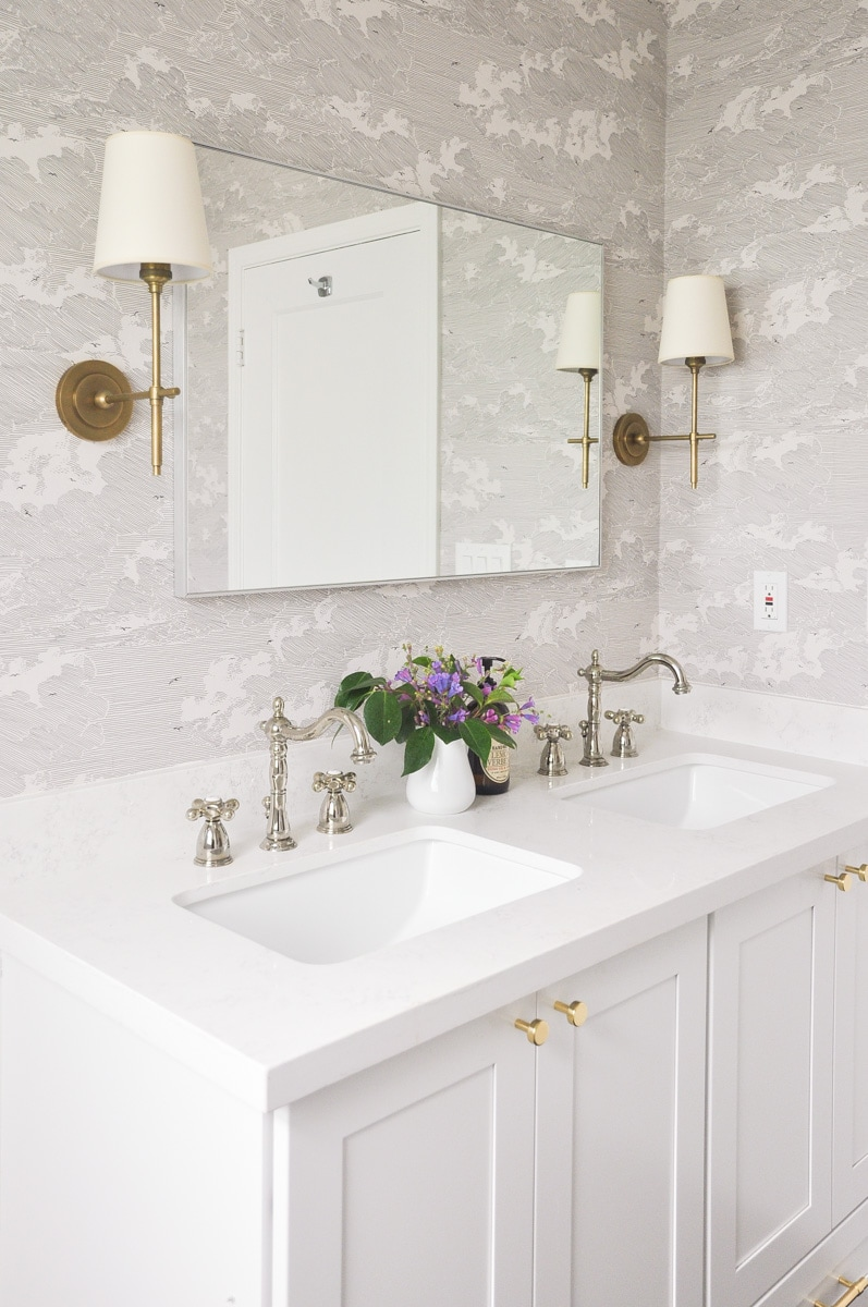 small master bathroom remodel full reveal, vintage inspired white bathroom, light and airy, bathroom remodel budget breakdown, bathroom interior design