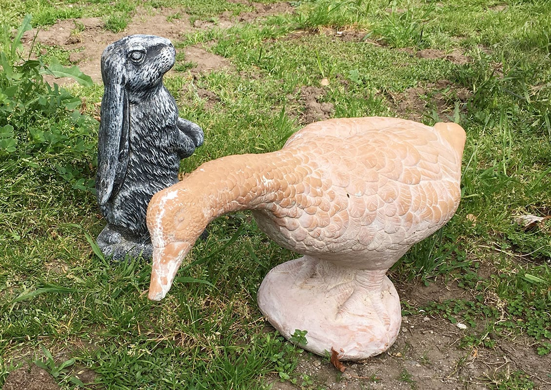 garden statue transformation before diy