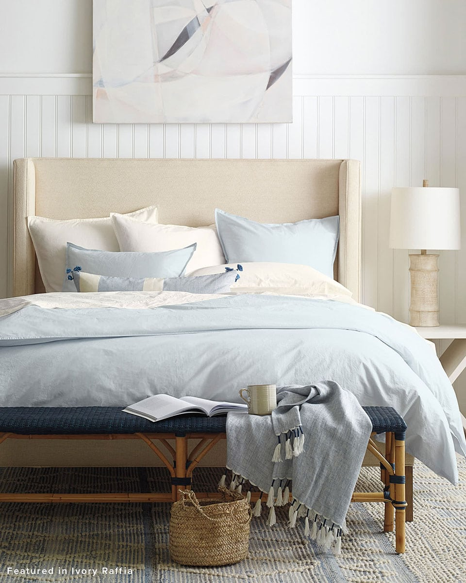 my favorite interior design style | coastal beachy style | serena and lily, fresh, seaside interiors, beddings, bedroom