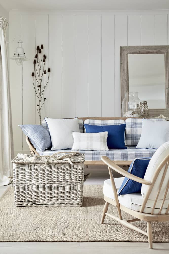 my favorite interior design style | coastal beachy style | serena and lily, fresh, seaside interiors, living room