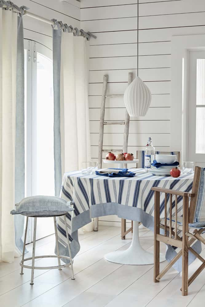 my favorite interior design style | coastal beachy style | serena and lily, fresh, seaside interiors, dining room