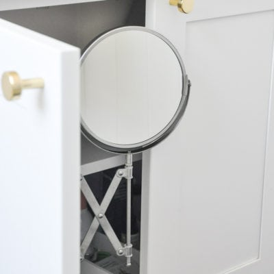 DIY Bathroom Vanity Inside Mirror – IKEA FRACK Mirror Hack