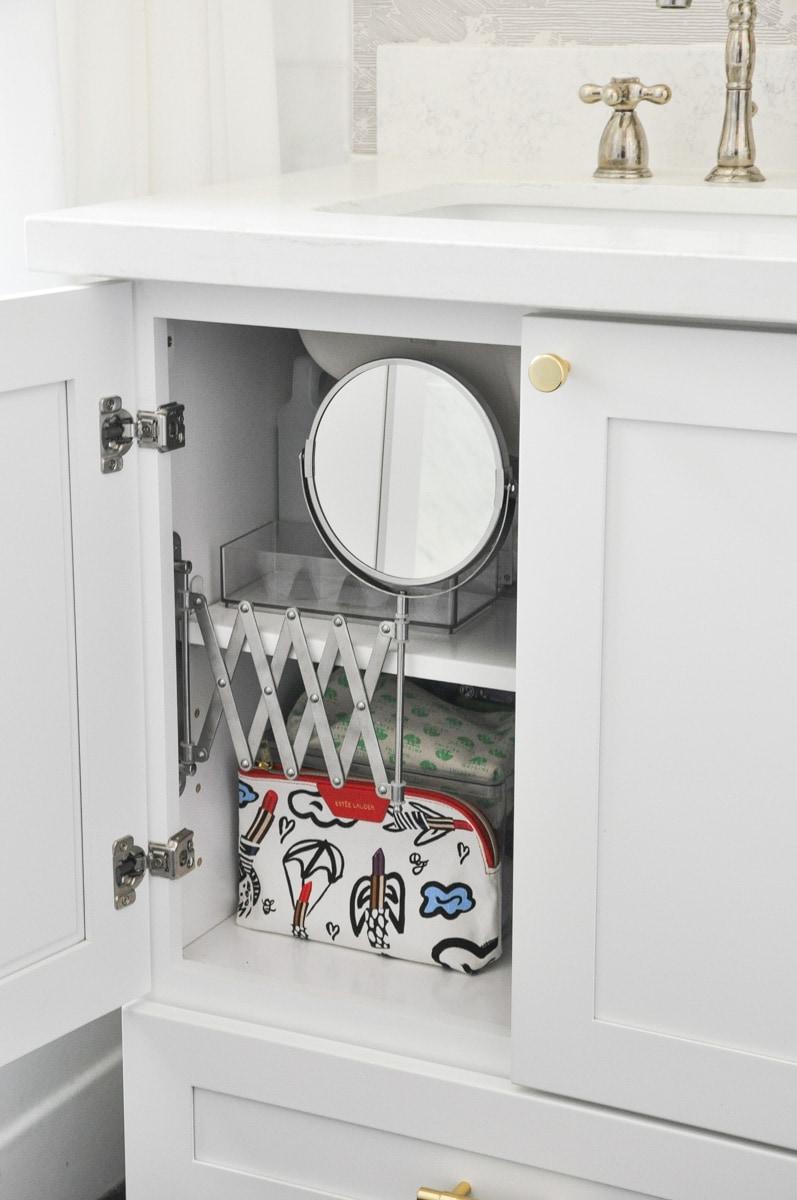 diy bathroom vanity mirror installation ikea frack mirror hack