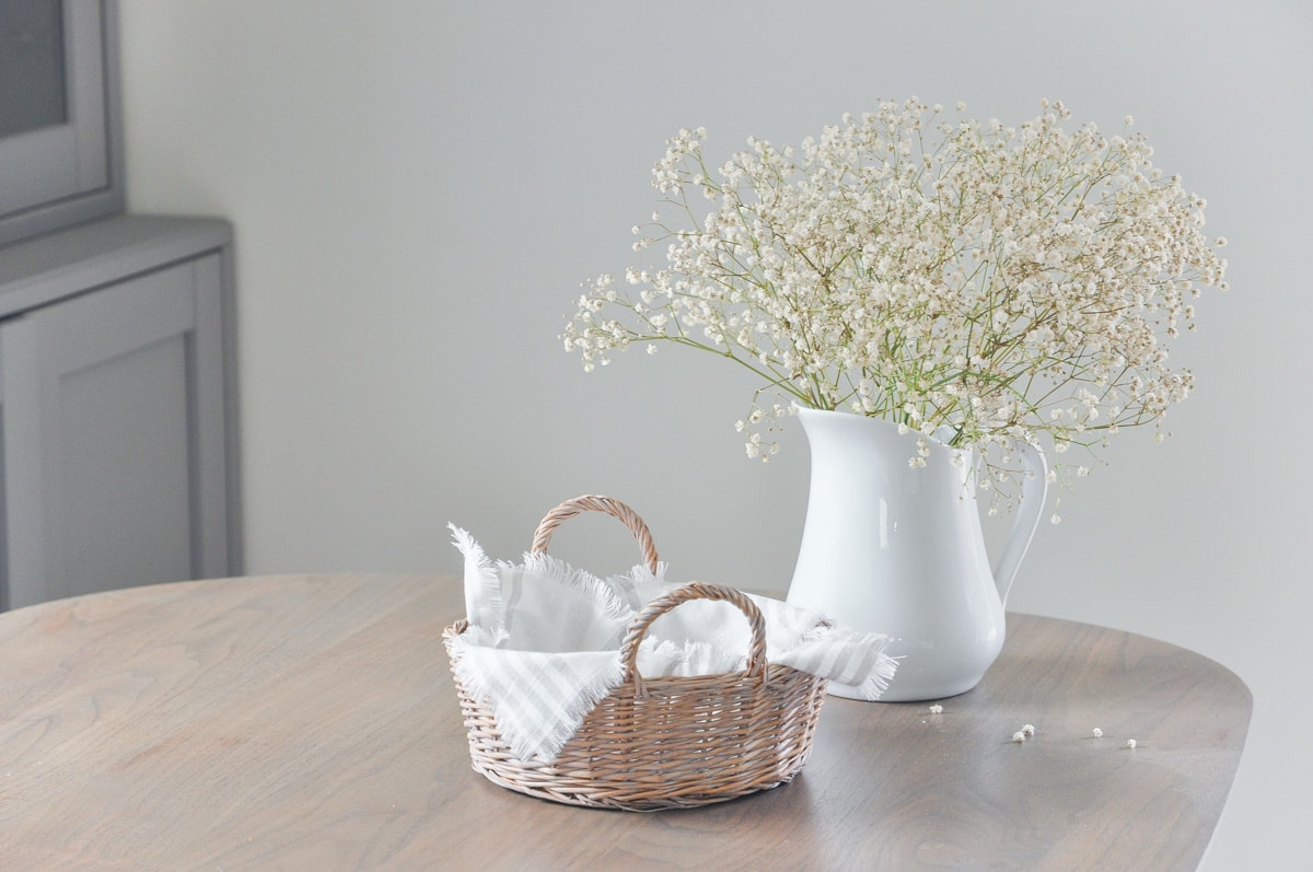 Diy French Country Style Napkin Holder With Thrifted Basket Hydrangea Treehouse