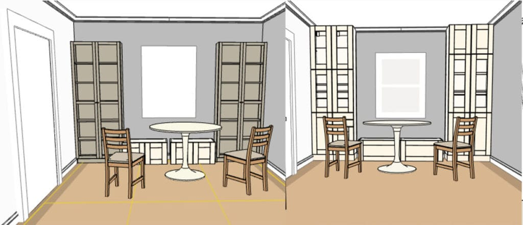 ikea kitchen cabinet banquette seat hack