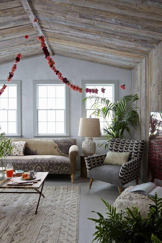 boho chic, boho decor, hobo home, boho living room
