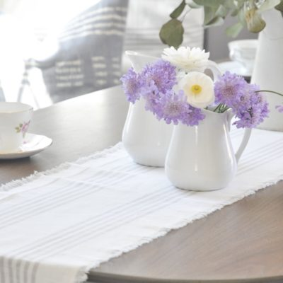 DIY Easy No Sew Table Runner