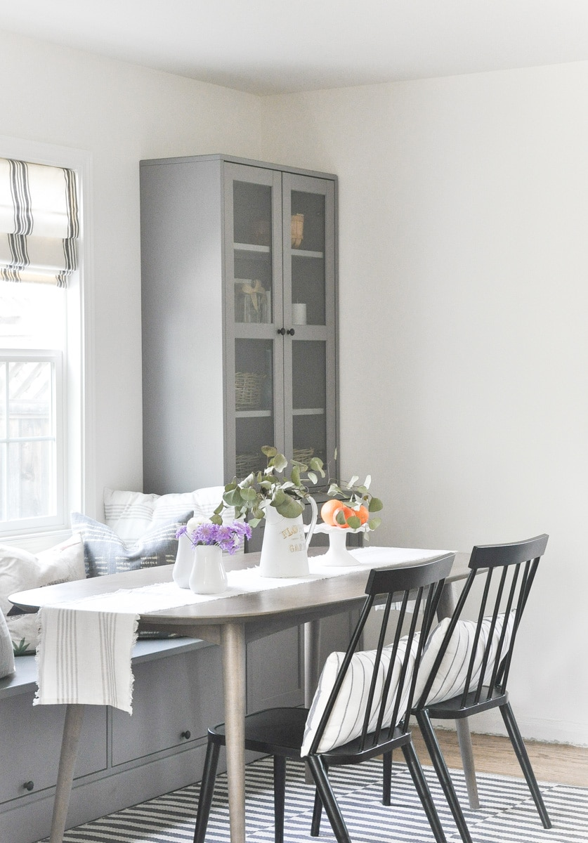 small dining room remodel, cottage farmhouse dining room