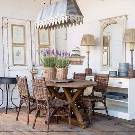 dining room, interior style, french rustic, vintage inspired cottage