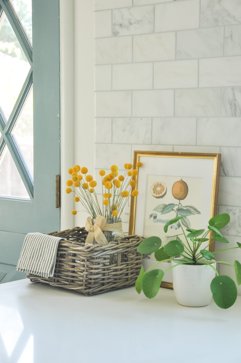 kitchen vignette, cottage rustic decoration, billy ball