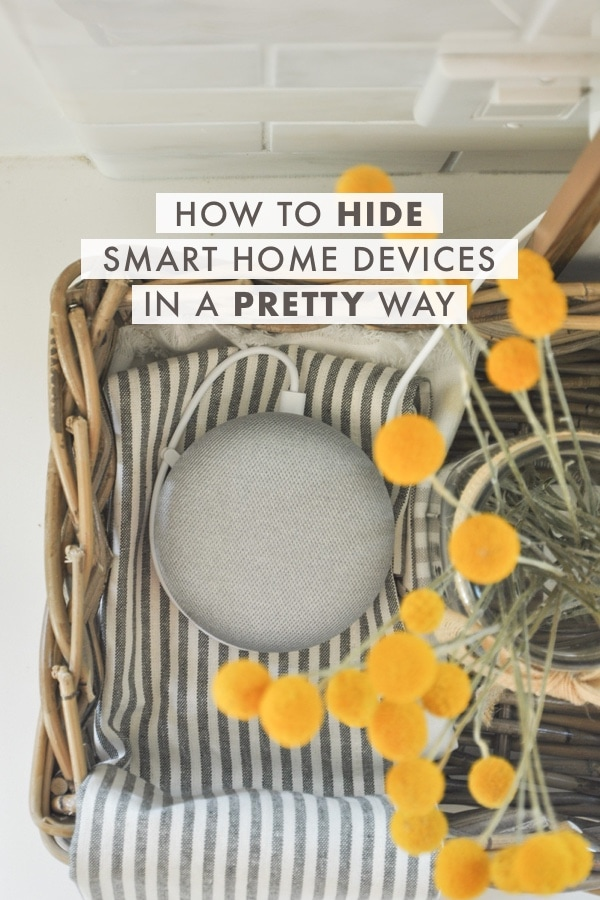 how to hide smart home devices, hide google home mini, alexa, hide technology