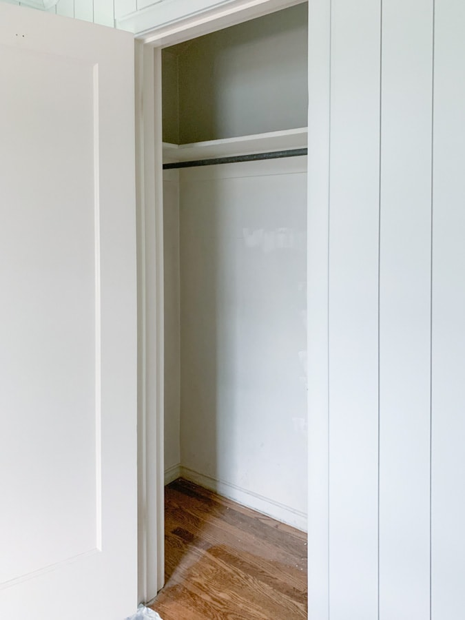 home office closet makeover before