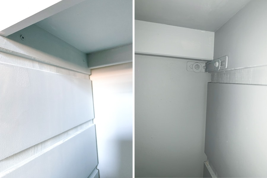 IKEA Trofast hack, closet builtin storage unit, home office closet makeover