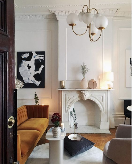 european chic interior style, parisian chic, paris apartment, vintage inspired scandinavian