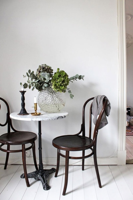 french bistro, cafe style, european chic interior style, parisian chic, paris apartment, vintage inspired scandinavian