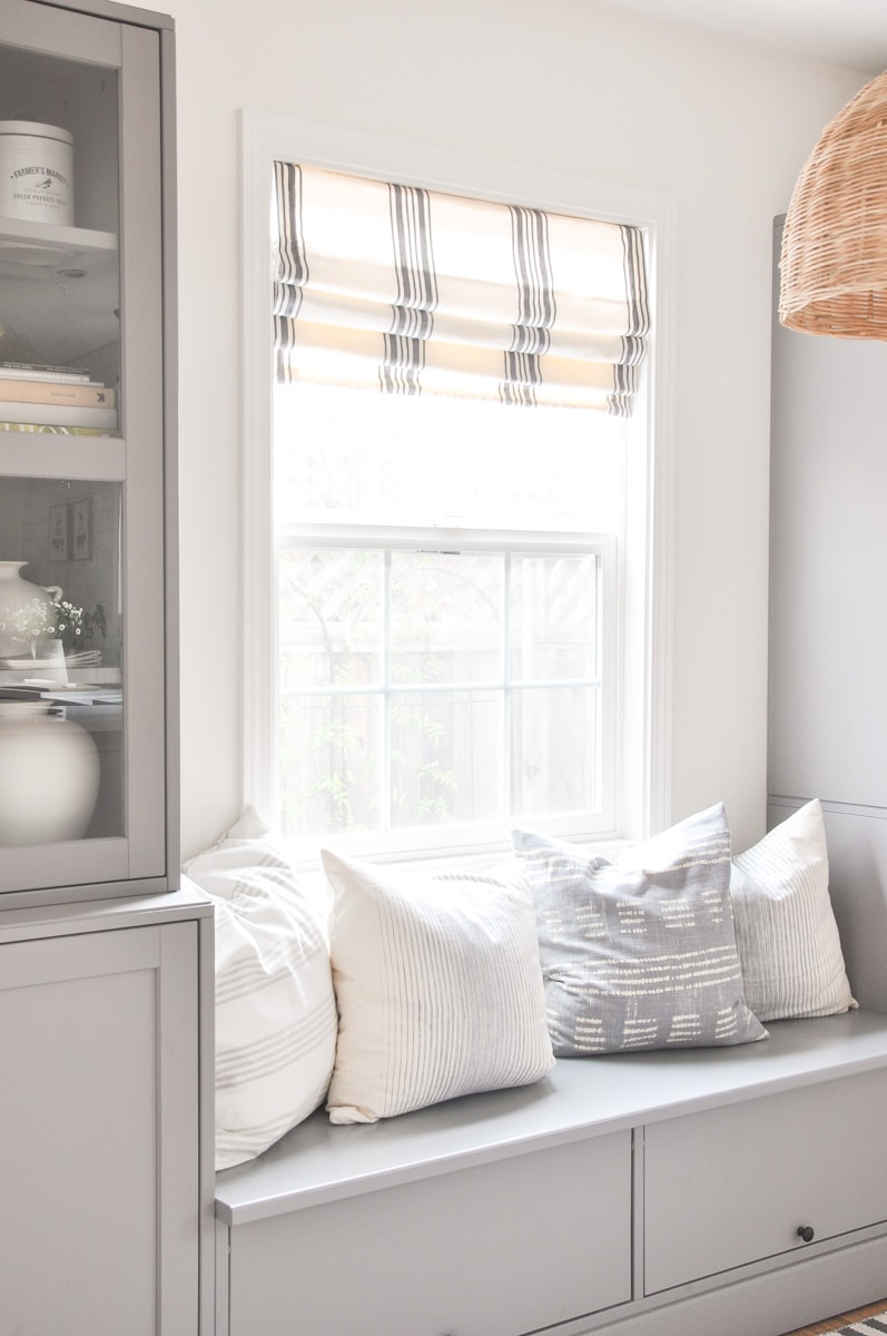 modern farmhouse roman shades photo