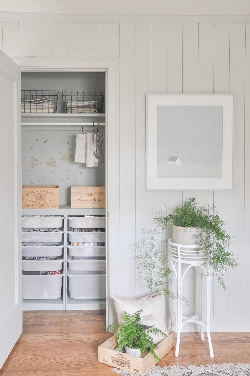 ikea trofast hack small closet diy, craft supply organization