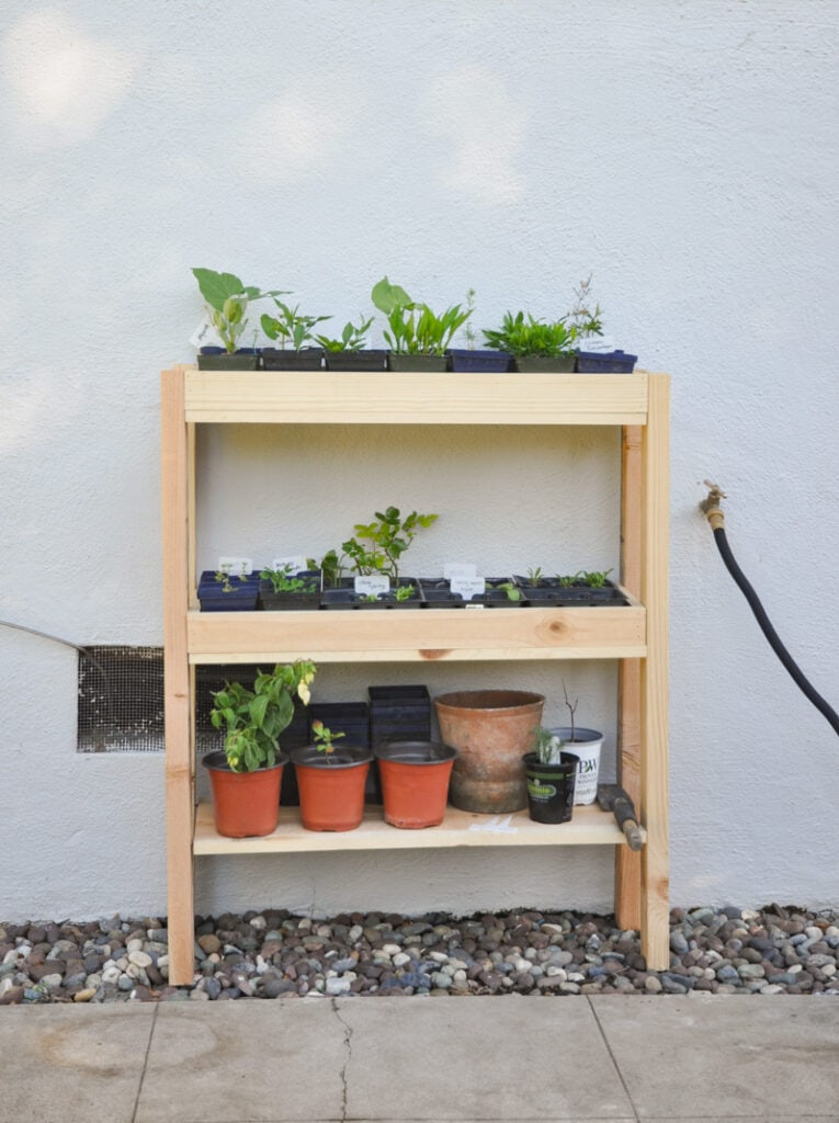 DIY outdoor plant shelf ideas