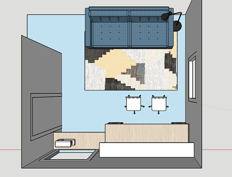 home office floor plan in sketchup
