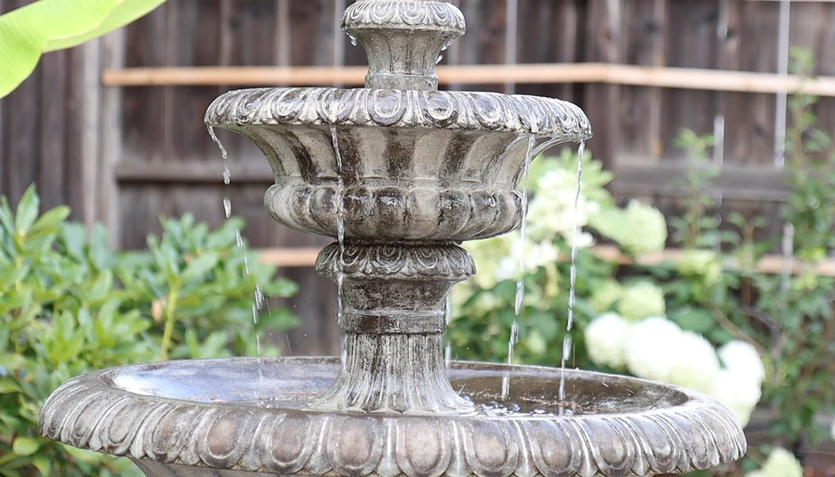 2 tier water fountain