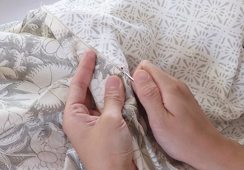 how to sew pillow covers with zipper closure