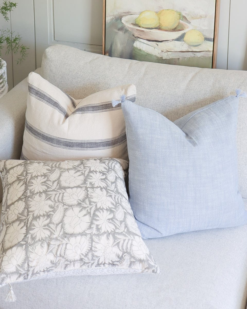 DIY serena and lily tasseled pillow cover tutorial