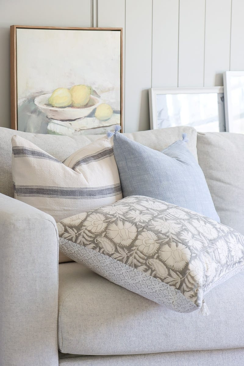 DIY zippered throw pillow covers, serena & lily inspired