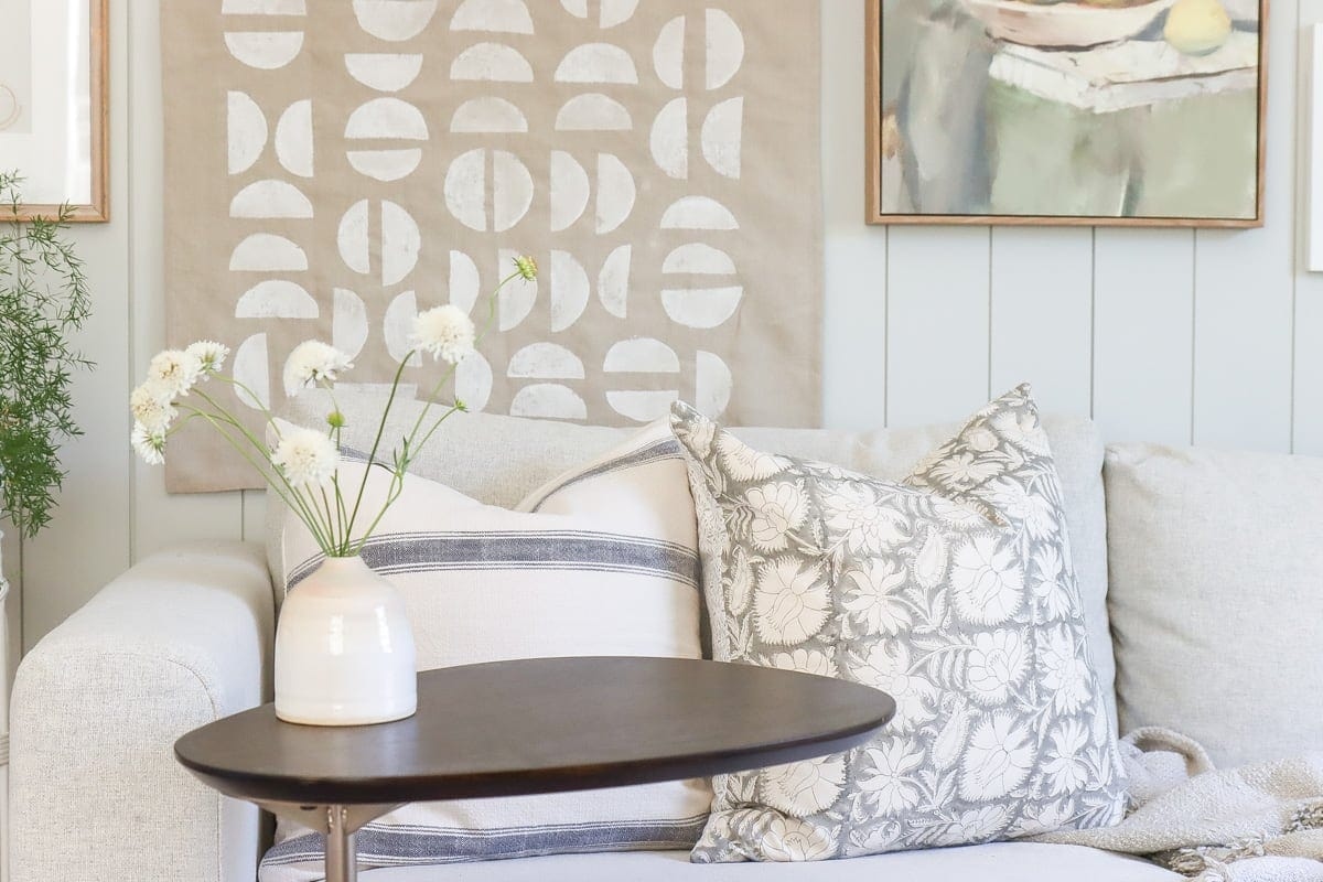easy diy pillow covers with zipper on ikea vimle sofa sleeper, serena and lily inspired