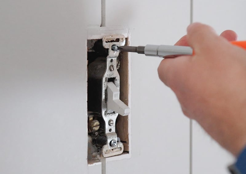 how to change an old light switch and cover to new ones