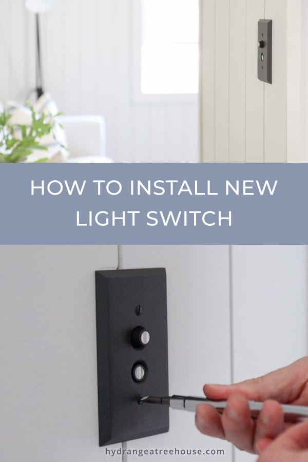 how to install new light switch and cover plate DIY tutorial with video step by step instructions.
