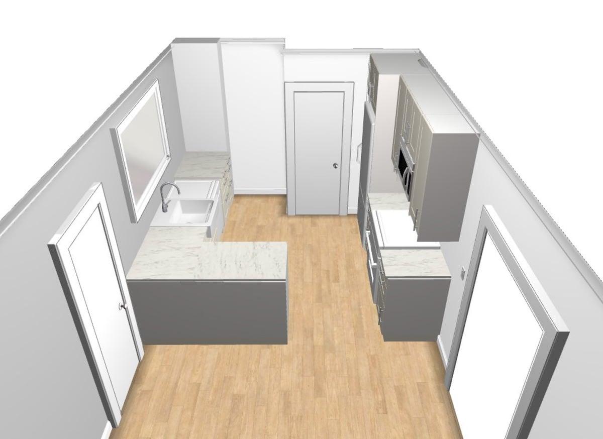 Ikea kitchen layout from kitchen planner