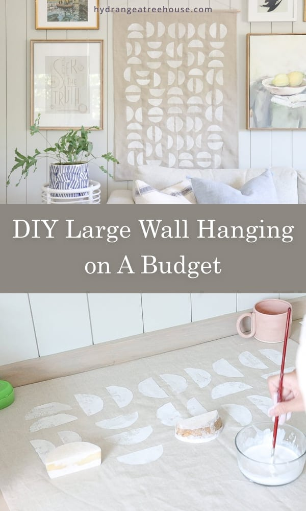 DIY large wall hanging on a budget, diy large scale wall art